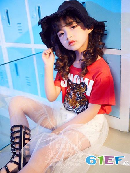 维尼叮当龙8国际娱乐官网品牌2018春夏红色百搭女童上衣