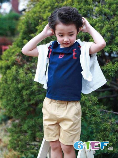 伟尼熊龙8国际娱乐官网品牌2018夏季休闲百搭简约男童上衣