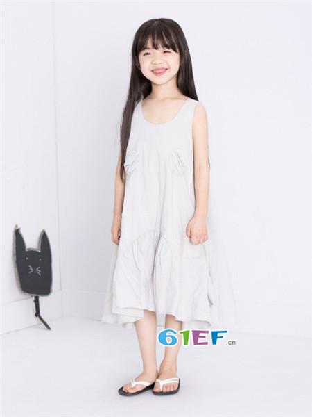 童衣汇童装品牌2018春夏时尚宽松提花连衣裙
