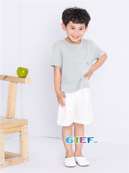 童衣汇童装品牌2018春夏时尚简约百搭男T恤