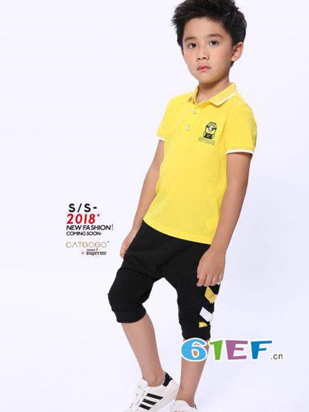 卡姿果果童装品牌2018夏时尚休闲短袖男T恤