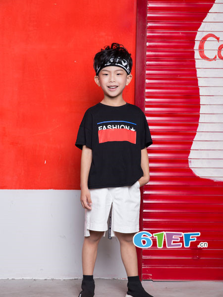OKstar欧卡星童装品牌2018夏时尚休闲短袖男T恤