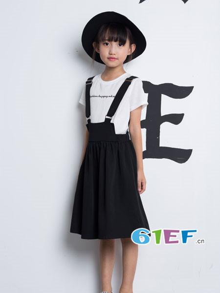 OKstar欧卡星龙8国际娱乐官网品牌2018夏休闲百搭背带裙