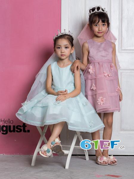 OKstar欧卡星童装品牌2018夏时尚甜美网纱蓬蓬公主裙