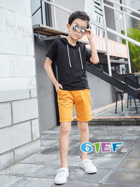 名书曼秀龙8国际娱乐官网品牌2018夏休闲连帽短袖T恤