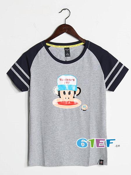 世通折扣2018春夏休闲大嘴猴印花短袖T恤