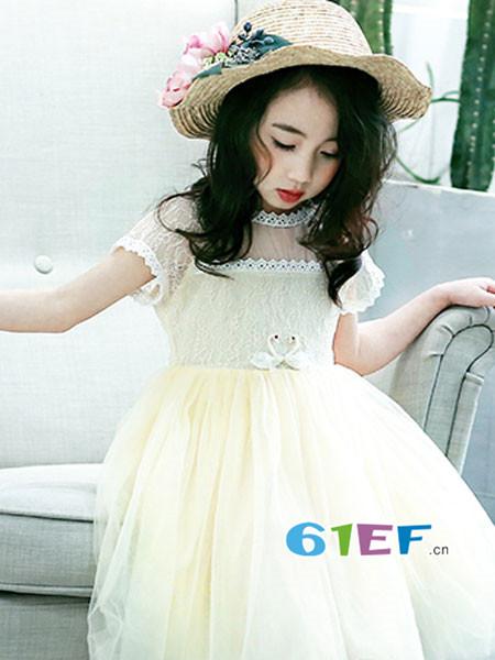 艾拉A.LAAR童装品牌2018春夏时尚优雅气质网纱礼裙