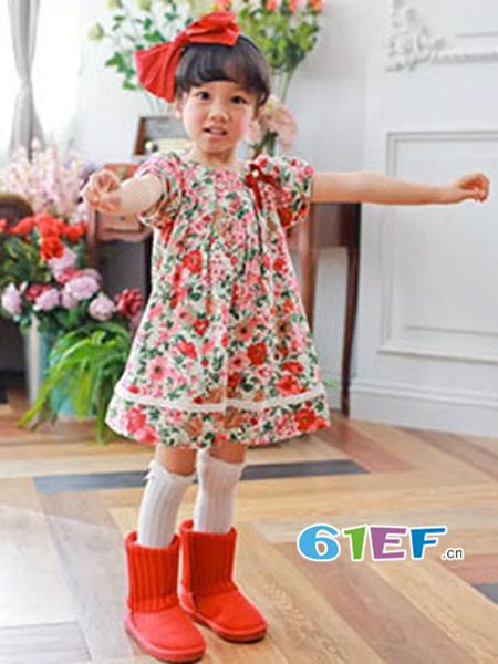 安妮公主童装品牌春夏时尚韩式碎花连衣裙