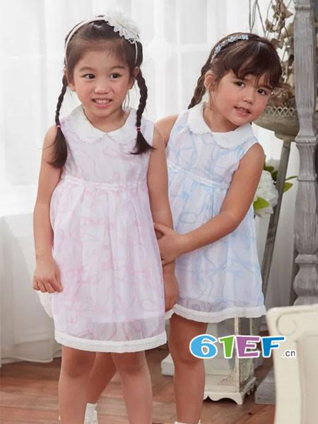 安妮公主童装品牌春夏韩式优雅娃娃领连衣裙