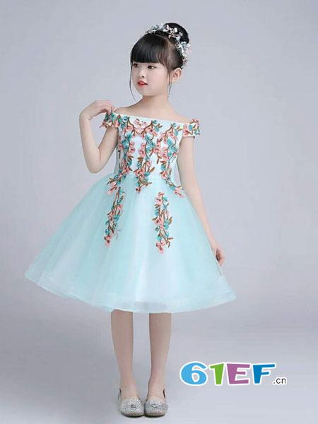 魔方龙8国际娱乐官网品牌2018春夏花朵裙子韩版中大童洋气公主裙
