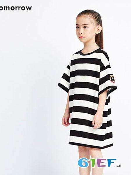 Sun Tomorrow尚T童装品牌潮款长袖毛衣特色针织裙