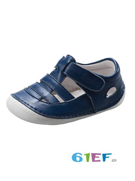斯乃纳童鞋品牌2018春夏宝宝羊皮包头凉鞋