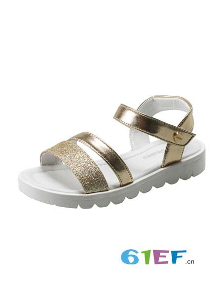 斯乃纳童鞋品牌2018春夏时尚百搭公主鞋儿童露趾凉皮鞋