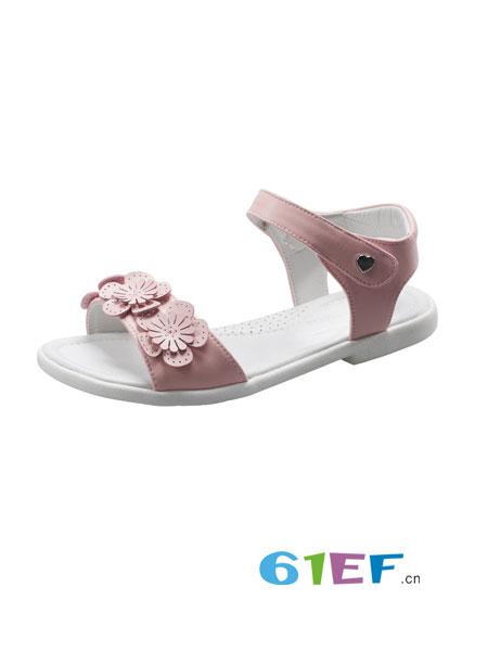 斯乃纳童鞋品牌2018春夏新款儿童透气软底女孩凉鞋公主鞋