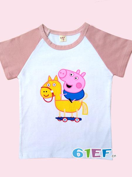 乐美小屋童装品牌2018春夏儿童宝宝婴幼儿短袖儿童夏季短袖婴儿上衣打底衫