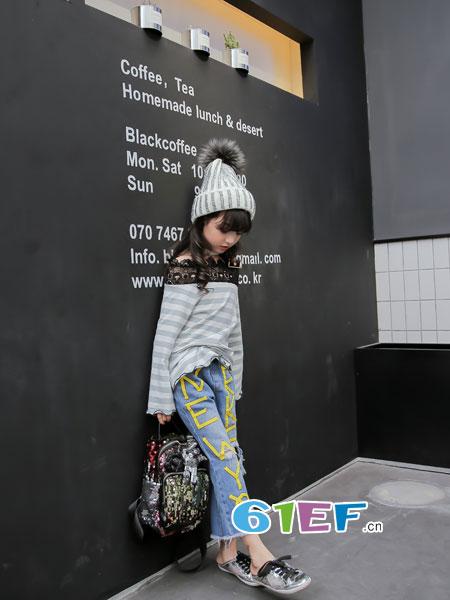 玖�闯蓖�童装品牌2018春夏韩版小学生长裤女孩全棉松紧裤子