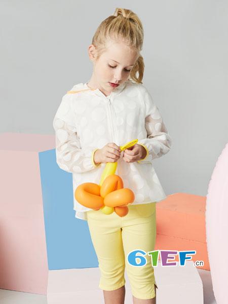法纳贝儿童装品牌2018春夏卡通米奇男女童外套超薄透气