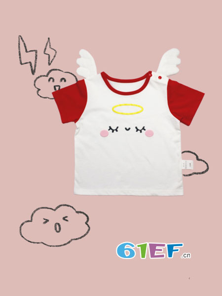 DADATATA童装品牌2018春夏男童女童t恤短裤 婴儿两件套 宝宝夏装