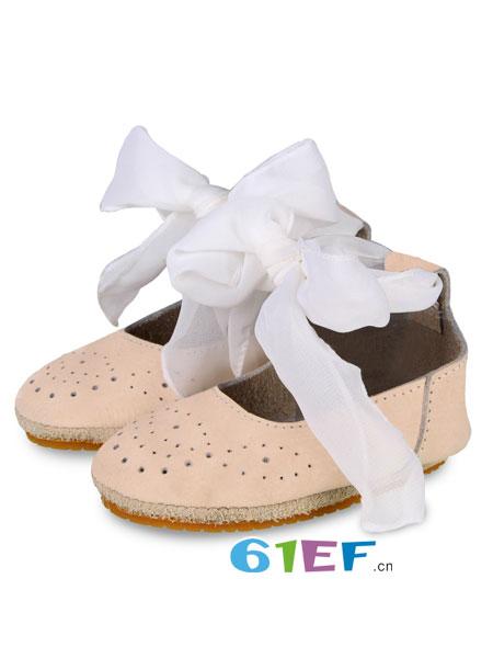 DONSJE童鞋品牌2018春夏婴儿童鞋牛皮鞋丝带学步鞋短靴