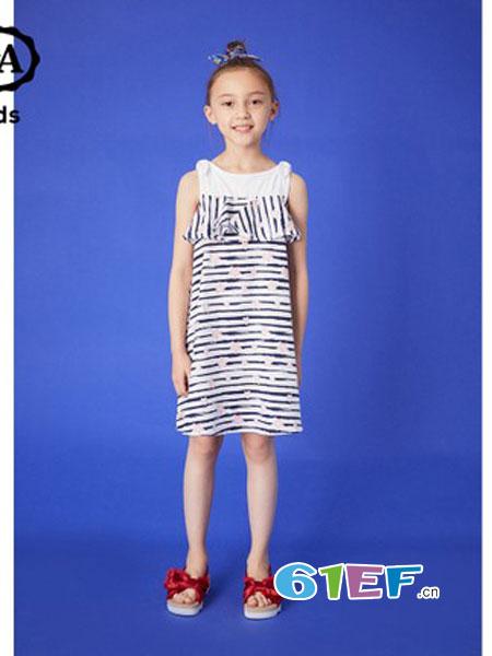 C&A童装品牌2018春夏艺术涂鸦贴布针织上衣 纯棉圆领印花T恤