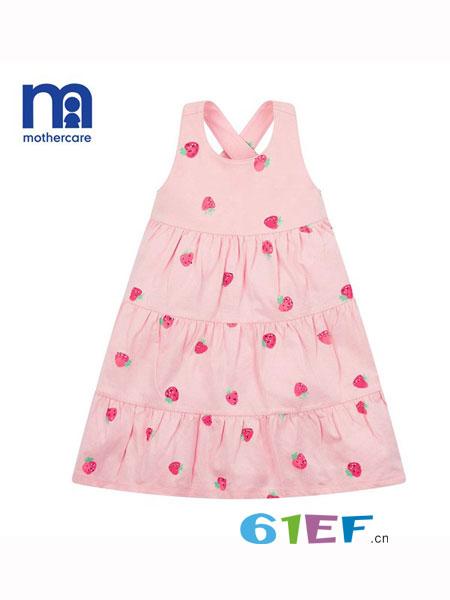 mothercar童装品牌2018春夏针织连衣裙中大童无袖裙子时尚可爱长裙