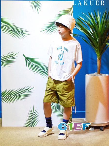 拉酷儿龙8国际娱乐官网品牌2018春夏印花印第安短袖T恤