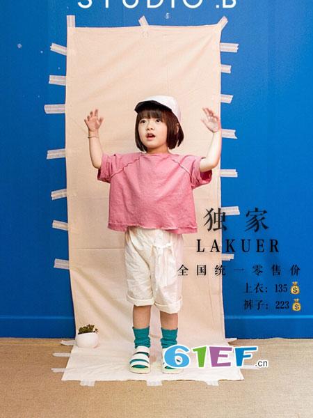 拉酷儿童装品牌2018春夏拼接蕾丝宽松短袖T恤儿童上衣纯棉