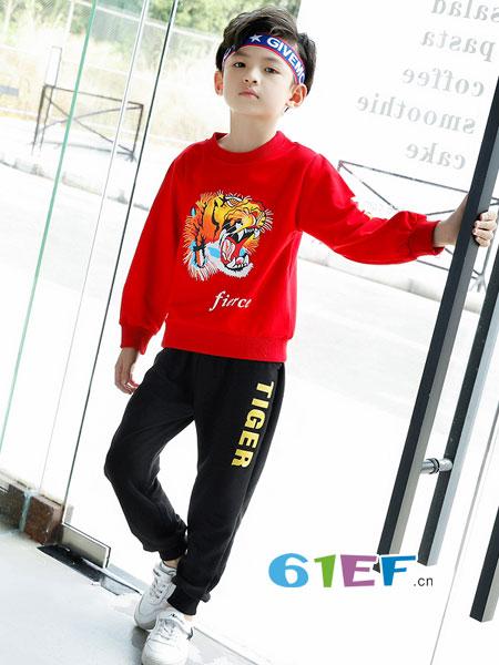 妙尼熊童装品牌2018春夏潮儿童中大童卫衣运动