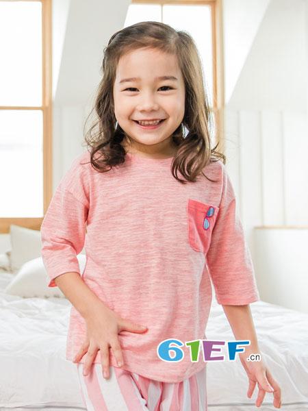 LINTTO邻家兔子童装品牌2018春夏休闲服宝薄棉舒适幼儿睡衣