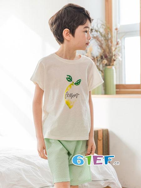 LINTTO邻家兔子童装品牌2018春夏宝宝洋气T恤竖条裤两件套