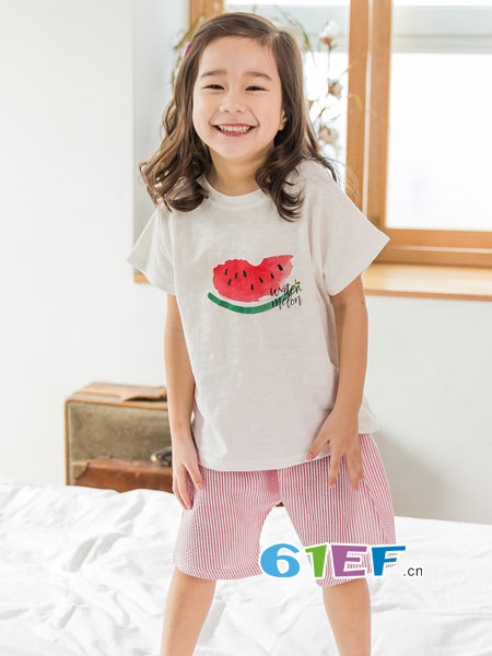 LINTTO邻家兔子童装品牌2018春夏印花创意上衣棉简约T恤