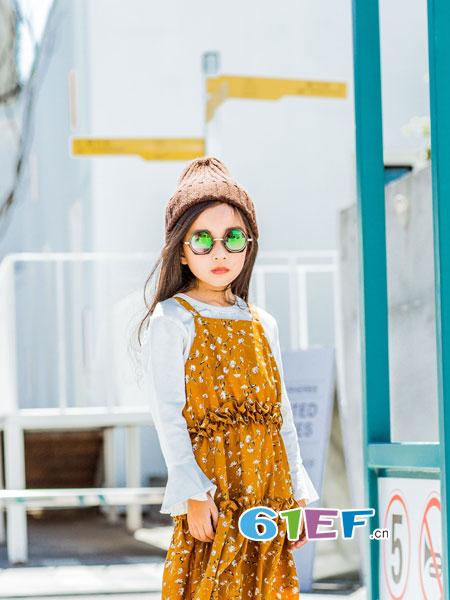 梦芭兔童装品牌2018秋季新款中大童韩版公主裙儿童裙子潮