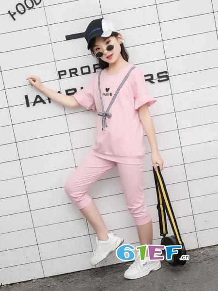 逗龙王子童装品牌2018春夏全棉套装中大童儿童家居服空调服