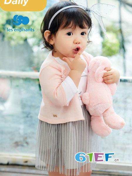 丽婴房童装品牌2018春夏新款 韩版女宝宝洋气1-3岁公主裙两件套