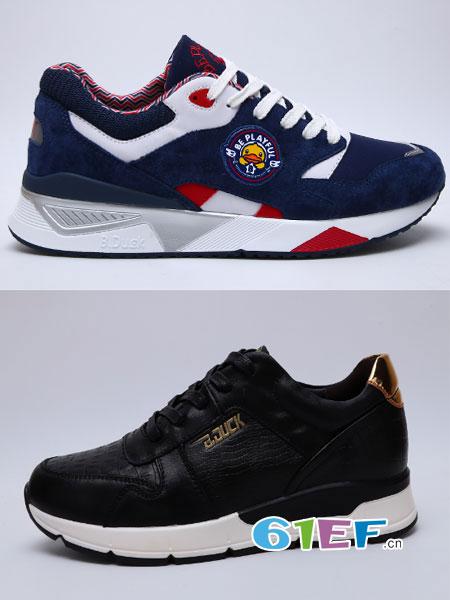 B.Duck小黄鸭童鞋品牌透气休闲鞋学生百搭跑步鞋系带网面鞋