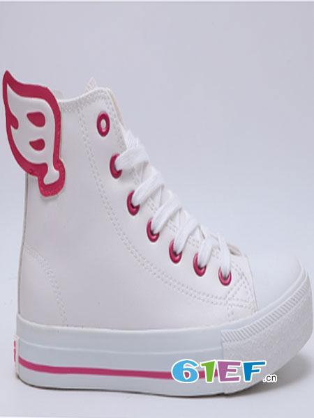 B.Duck小黄鸭童鞋品牌百搭韩版高帮小白鞋休闲鞋厚底