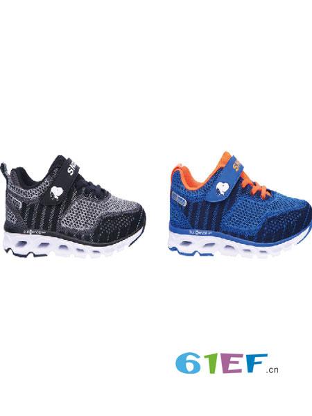 博仕屋童鞋品牌新款透气飞织鞋女童跑鞋