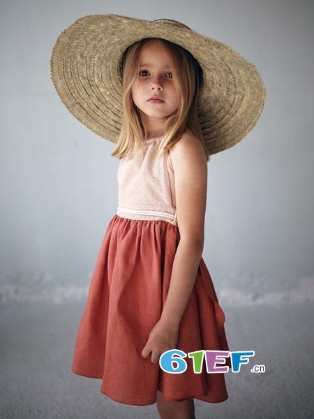 RollingKids童装品牌2018春夏儿童半裙中长半裙棉裙女童