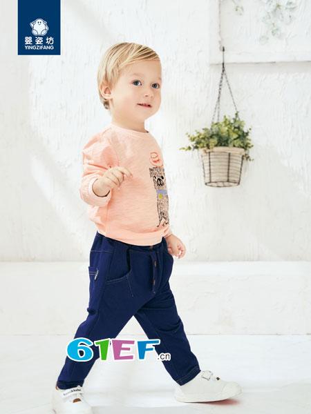 婴姿坊yingzifan童装品牌2018春夏潮童长袖打底衫