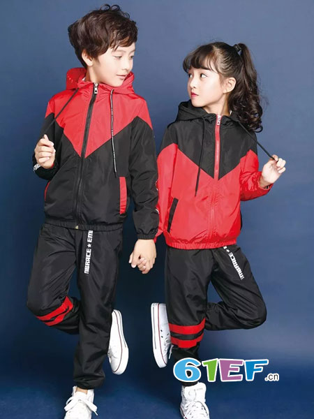 校园大道童装品牌2018春夏小学生校服长袖套装运动服儿童班服