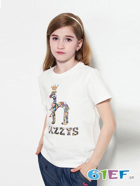 哈吉斯童装品牌2018春夏纯棉中袖T恤
