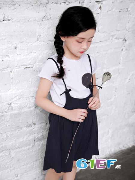 幼幼&娜娜童装品牌2018春夏新款品牌童装吊带裤两件套装