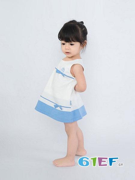良良童装品牌2018春夏公主蕾纱连身裙满月礼服纯棉