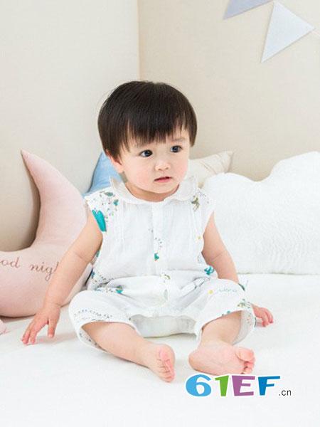 良良童装品牌2018春夏连体睡衣4婴儿童法兰绒睡袋1-3岁