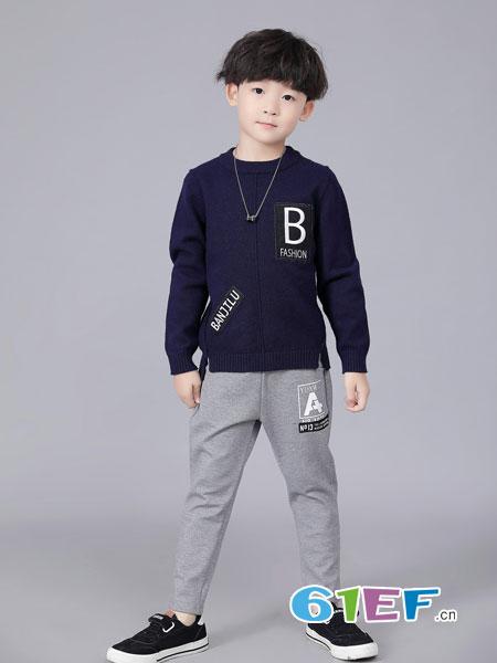 班吉鹿banjilu童装品牌2018秋冬新款套装儿童两件套 韩版运动裤子潮