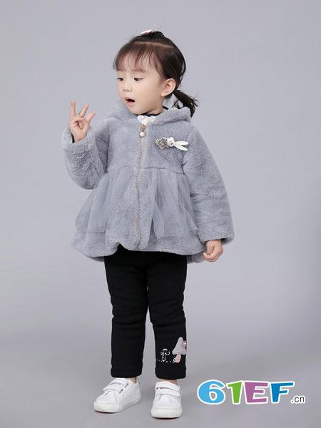 班吉鹿banjilu童装品牌2018秋冬秋冬新款韩版女童加绒加厚外套