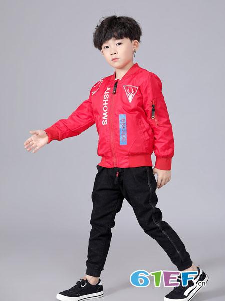 班吉鹿banjilu童装品牌2018秋冬学生时尚休闲短款宽松灯笼袖长袖上衣