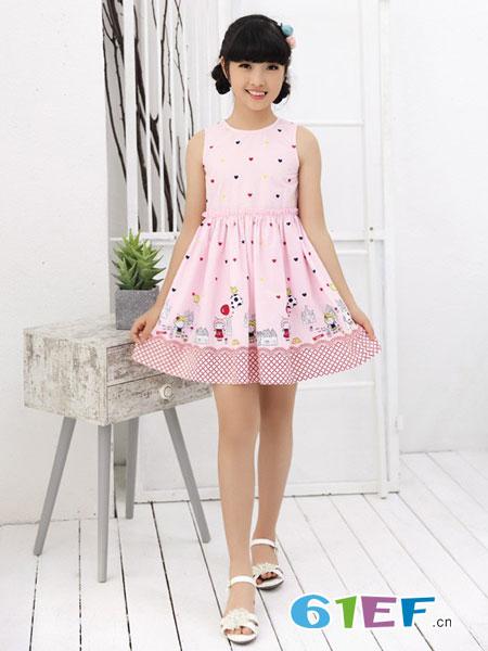 贝蕾尔童装品牌2018春夏儿童裙子夏装女童连衣裙夏棉质棉布裙公主裙