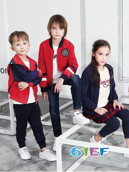 杰米熊童装品牌2018秋冬新款 女中童羊毛开衫时尚百搭时尚