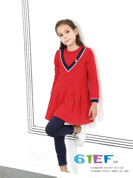 杰米熊童装品牌2018秋冬新款韩版中大童裙子女孩时尚公主裙潮
